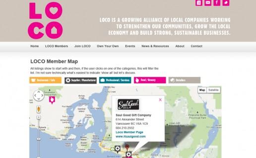LOCO BC member's map
