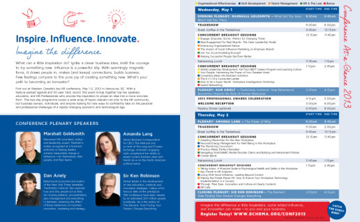 4-page printed teaser to promote conference (inside pages)