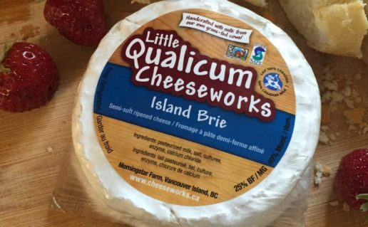 Little Qualicum Cheese Redesign, Brie label