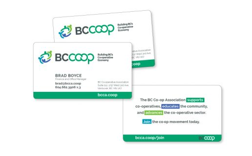 BC Coop Association Business Cards
