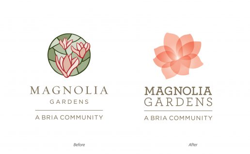 Before / After, Magnolia Gardens Redesign
