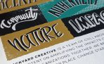 Backyard Creative Manifesto Poster, close up, silkscreened
