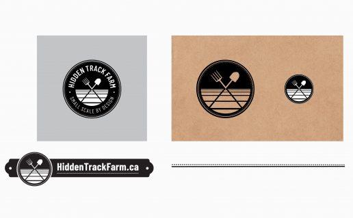 Hidden Track Farm brand palette
