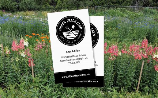 Hidden Track Farm business cards